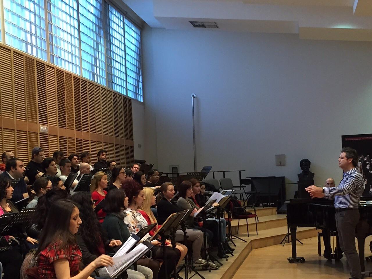 Traviata Madrid aprile 2015 Prove